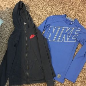 Boys xl Nike lot. Pro warm top/Hoodie